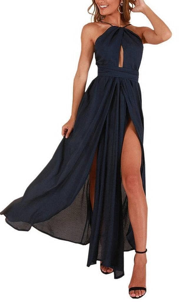 ee966053db354 YiyiLai Robe Longue Femme Epaule Nue Eté Dos Nu Asymétrique Cérémonie  Mariage Mode: Amazon.fr: Vêtements et accessoires