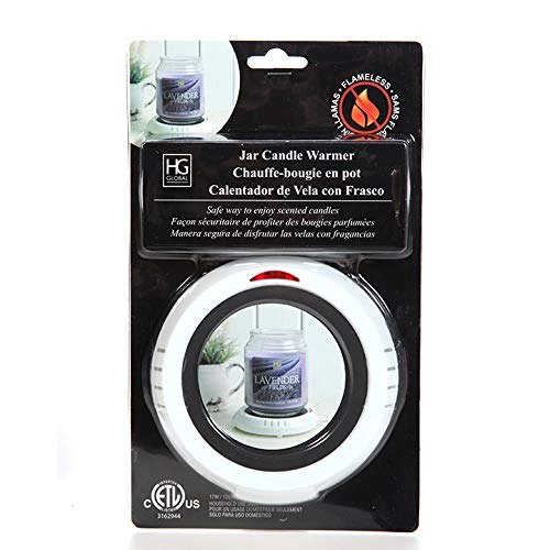 Hosley's White Electric Candle Warmer Large 5.4' Diameter. Ideal for Aromatherapy, Home Office, Dorm Rooms, Hotels or Any Place that You Cannot Have an Open Flame. O3