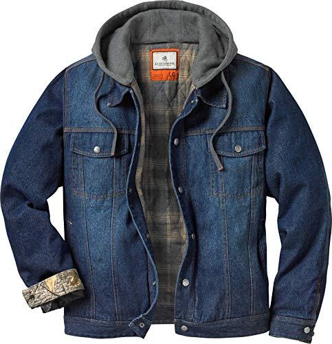 Legendary Whitetails Men's Hideout Denim Hooded Jacket Denim Hooded Large