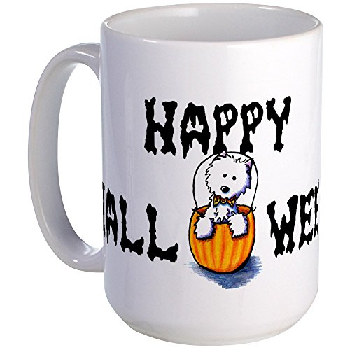 CafePress - Happy Halloween WESTIE Large Mug -