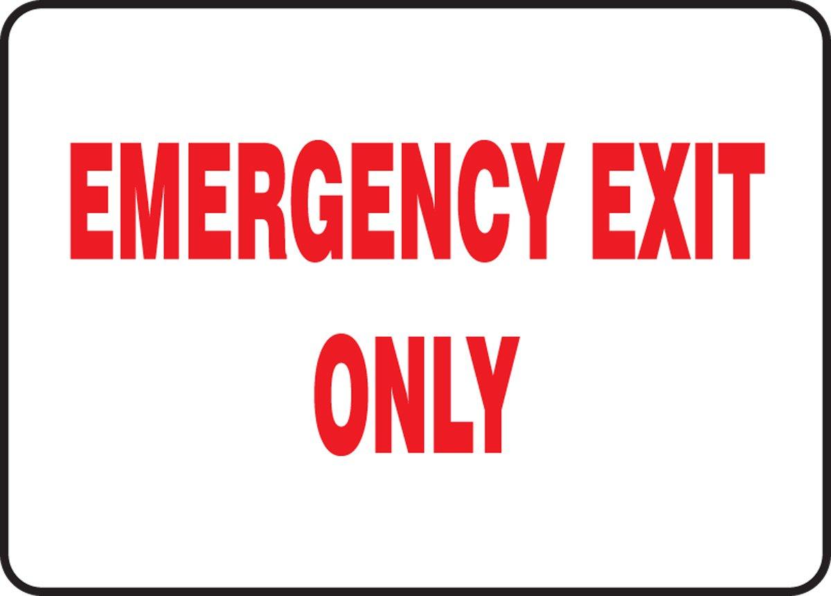 Amazon.com: Señal de emergencia de salida de incendio, 7.0 x ...