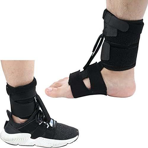 Right or Left Drop Foot Brace,Plantar Fasciitis Splint,Day/Night Dorsal Splint,Foot Up Brace Prevent Dragging,Ware Barefoot/Inside Shoes,for Stroke,Achilles Tendonitis,Muscular Distrophy