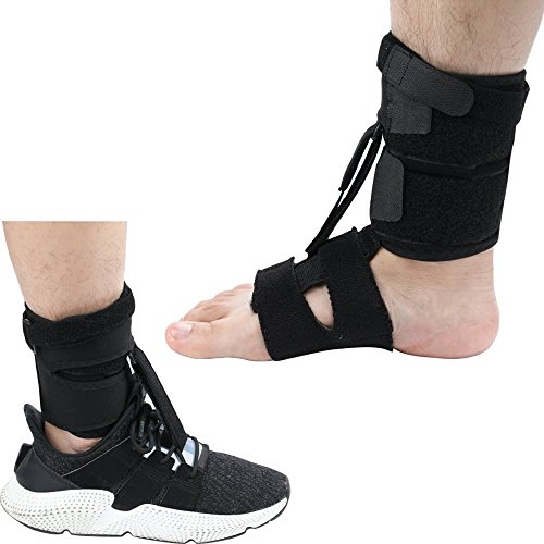 Right Or Left Drop Foot Brace,Plantar Fasciitis Splint,Day/Night Dorsal Splint,Foot up Brace Prevent Dragging,Ware Barefoot/Inside Shoes,for Stroke,Achilles Tendonitis,Muscular - Splint Drop Foot