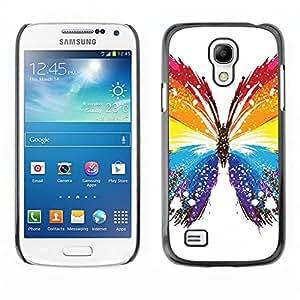 EJOY---Cubierta de la caja de protección la piel dura para el ** Samsung Galaxy S4 Mini i9190 ** --Mariposa Colores