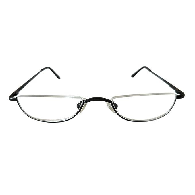 Meijunter Cornice in metallo Cerniera a molla Eyewear Unisex Half Moon Half Frame Occhiali da lettura T34(black/+3.0) t1RPs