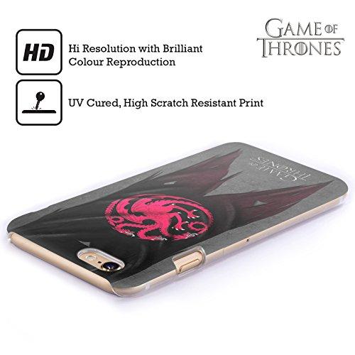 Officiel HBO Game Of Thrones Targaryen Drapeaux De Symbole Étui Coque D'Arrière Rigide Pour Apple iPhone 6 Plus / 6s Plus