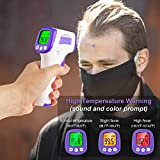 Infrared Forehead Thermometer, Non-Contact Forehead Thermometer for Adult, Kids, Baby, Accurate Instant Readings No Touch Infrared Thermometer with 3 in 1 Digital LCD Display for Face, Ear, Body
