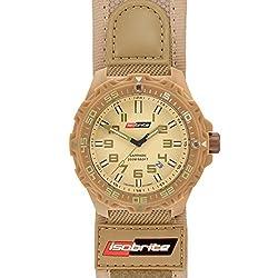 Isobrite T100 Valor Series Tan Watch Nylon & Velcro Band