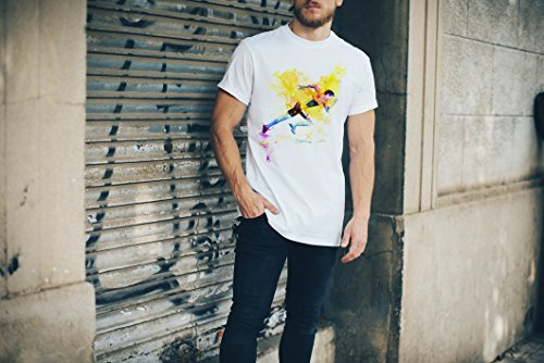 Running VI Herren T-Shirt Sport Motiv aus Paul Sinus Aquarell