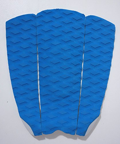 - Kahoy Surf Traction Pad - 3 Piece Stomp Pad. Sticks on for Surfing, Skimboarding, SUP Boarding, Shortboards. 3M Extra-Sticky Traction Pad. (Blue)