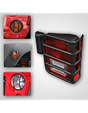 Rugged Ridge 12496.03 Black Euro Light Guard Kit for Jeep JK Wrangler