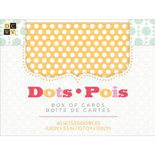 Die Cuts With A View Box of A2 Cards and Envelopes, Bright Dots, 40-Pack