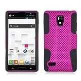 Eagle Cell PHLGP769NTBKHPK Progressive Hybrid Protective Gummy TPU Mesh Defense Case for LG Optimus L9/Optimus 4G P769 – Retail Packaging – Black/Hot Pink, Best Gadgets
