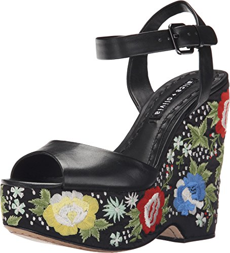 Alice + Olivia Women's Siena Too, Black Nappa, 40 (US Women's 10) M