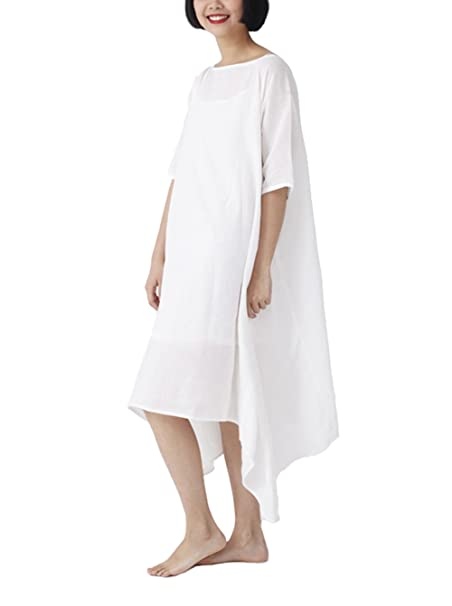 Amazon.com: lanbao Womens Blanco Ramie traje de lino (Barco ...