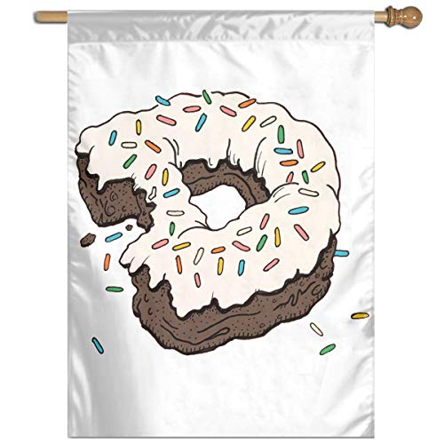 YUANSHAN Single Print Home Garden Flag D Letter Donut Polyester Indoor/Outdoor Wall Banners Decorative Flag 27
