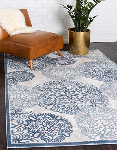 A2Z Rug Colchester Collection Textured Shrink Luxury Area Rugs Blue 10' 4 x 14' - Feet Perfect for Living Room Dinning Room Bedroom Quality Floor Décor -