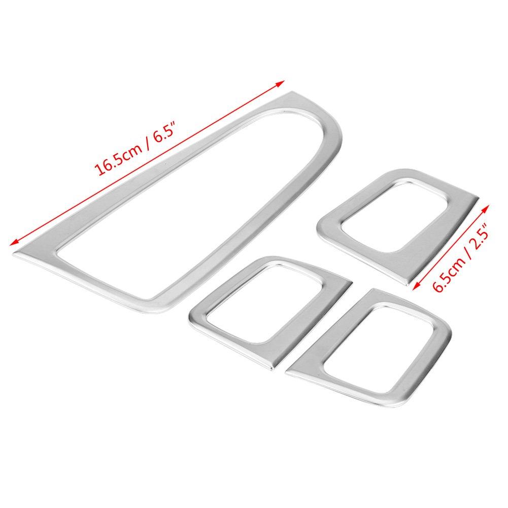 KIMISS Auto Fensterheber Knopfschalter Abdeckung Trim Dekoration Rahmen f/ür C Klasse W205