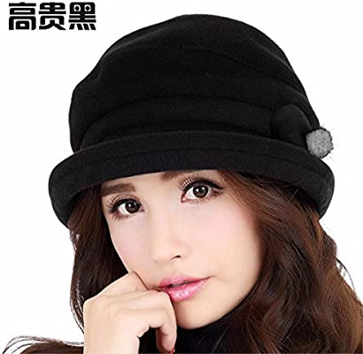 2977d0b2e3234 LONFENN Ladies Women Hats Crimping Small Gift Hat Autumn And Winter Days  Warm Bailey Stylish Winter