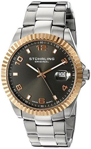 Stuhrling Original Men's 'Symphony' Swiss Quartz Stainless Steel Dress Watch (Model: 499.332A154)