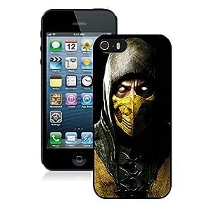 Game Case,Easy Use Case Mortal Kombat X Scorpio Ninja Mask Cover Case for iphone 5 5s 5th in black