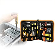 Portable Ethernet Cable Tester Kit,RJ45 Crimper Plug Crimping Tool Set Soldering Iron Kit 60W Adjustable Temperature Welding Tool,Digital Multimeter,Professional Network Tools