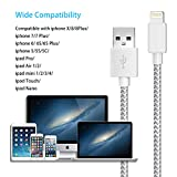 VIVK Charger Cable 4 Pack 10FT 6FT 6FT 3FT Long Nylon Braided USB Fast Charging & Syncing Cord Compatible for iPhone X iPhone 8 8 Plus 7 7 Plus 6s 6s Plus 6 6 Plus iPad iPod Nano Silver