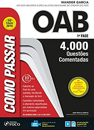 4f9d637425a38 Amazon.com.br eBooks Kindle  Como passar na OAB 1ª Fase  4.000 ...