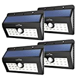 Solar Lights Outdoor, LITOM Super Bright Motion Sensor Wall Lights With 2nd Generation LED, Solar Wireless Security Waterproof Lighting For Outdoor Garden Patio Yard Garage RV (4 Pack) Review