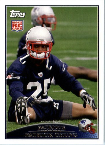 2009 Topps NFL Football ROOKIE Card #414 Patrick Chung New England Patriots (RC) NFL Trading Card