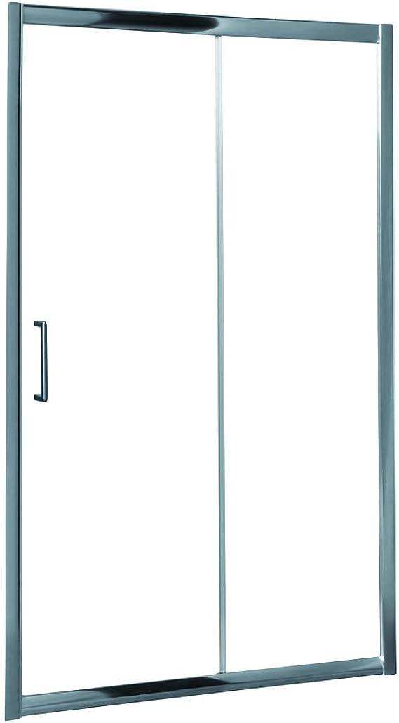 Mampara de Ducha MODULAR Frontal Sencilla - 1 Hoja FIJA + 1 Hoja CORREDERA. (110 cm, Serigrafiada): Amazon.es: Bricolaje y herramientas