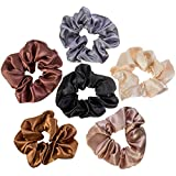 VAGA Scrunchies for Hair a 6 Color Satin Pack of Hair Scrunchies Hair ties & Ponytail Holder Headbands for Women Hair Scrunchies/Bobbles / Bands/Holders Set /