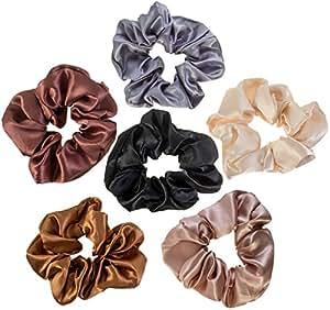 6 Hair Scrunchies / Bobbles / Bands / Holders Set