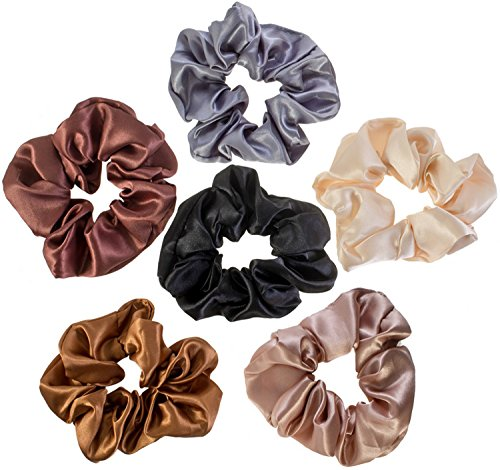 [6 Hair Scrunchies / Bobbles / Bands / Holders Set] (Vintage Costume Jewelry Images)