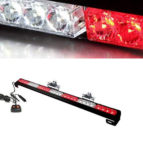 Oglight 31.5 28 LED Emergency Strobe Deck Grille Police Strobe Warning Light for Ambulance/Traffic/Police/Fire Fighter/Car/Truck(White/Red)