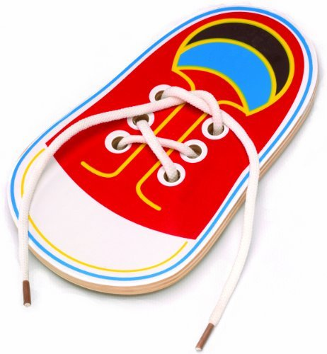 The Original Toy Company Tie Me Lacing Shoe by The Original Toy Company