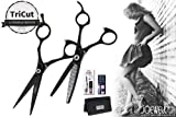 Joewell Envy Black 5.5'' Shear & Thinner Combo - Free Case, Razor Pack & Sidekick