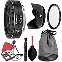 Canon EF 40mm f/2.8 STM Lens + Accessory Bundle
