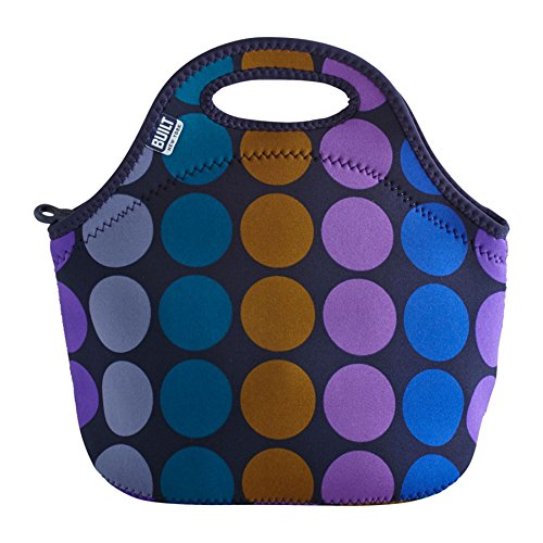 Built Gourmet to Go Insulated Lunch Tote - Plum Dot