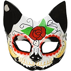 Forum Novelties Day of the Dead Cat Half Mask