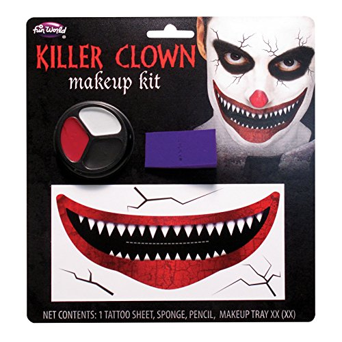 Fun World Unisex-Adult's Killer Clown Make-up Kit, Multi, Standard