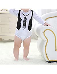 M-Egal Rompers Baby Bodysuit Rompers Jumpsuit Snapsuit Long Sleeves for Newborn Boy 0-3months