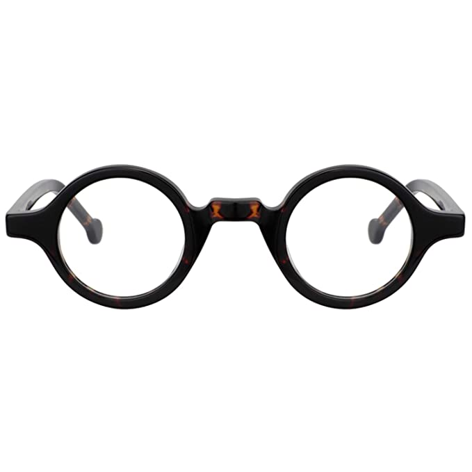 1920s Men's Clothing Zeelool Unisex Acetate Vintage Small Round Eyeglasses Frame Arale FA0176 $33.99 AT vintagedancer.com