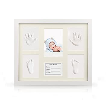 Pure Vie Gorgeous Keepsake Frame with Clay Imprint Kit #1 Baby Handprint /& Footprint Picture Frame Kit Memorable Keepsakes for New Born Baby Shower or Christening Gift Toddlers Birthday Presents