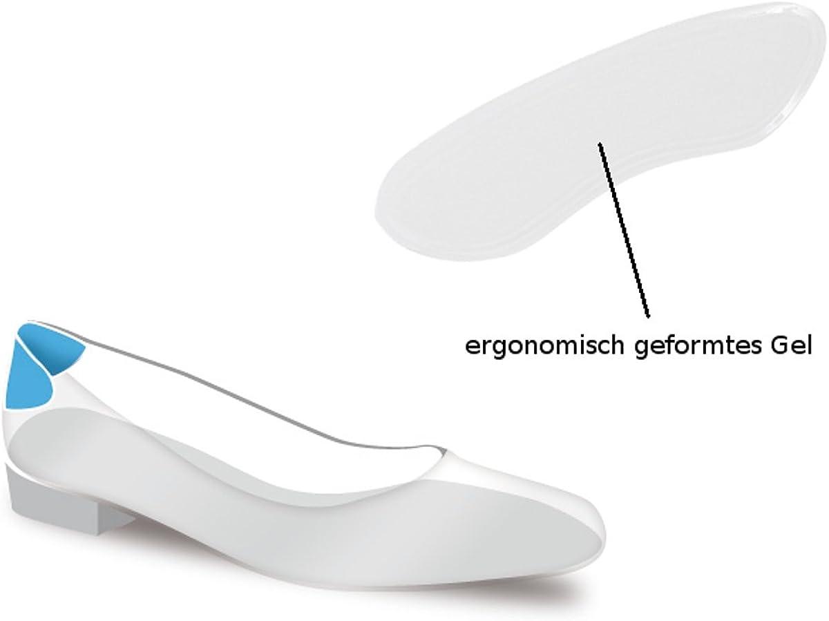 3 Paar Silikon Gel Fersenpolster Fersenschutz Rund Schuheinlage Transparent