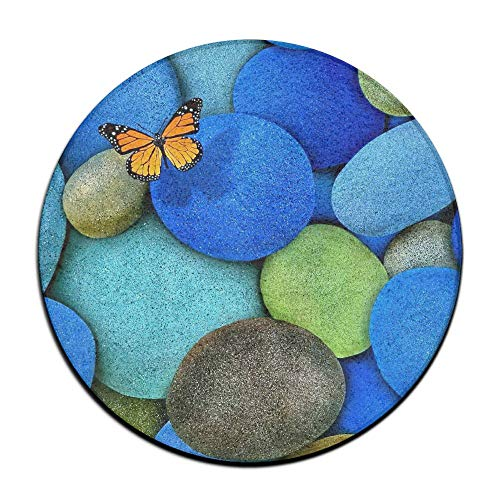 ALLMYHOMEDECOR Colorful Cobblestone Stone Rocks Door Mats Non Slip Outdoor Entry Carpet Retro Indoor Entrance Rug for High Traffic Areas Home Kitchen Floor Porch Patio Garage