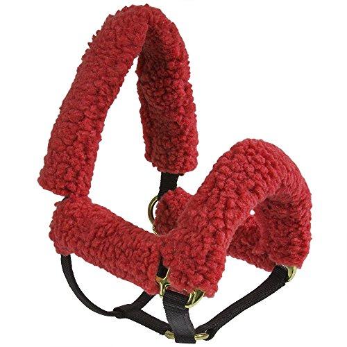 Red Cheek Pad Set - Intrepid International Halter Fleece Tube Set - 4 Pieces, Red
