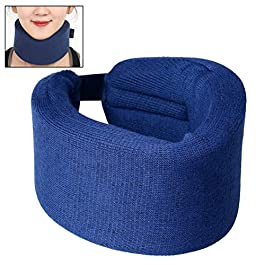 ZHIYE Neck Brace Adjustable Super Soft Support Callor, M Size Cervical Collar Blue for Sleeping Relieves Pain and Pressure, fit Men, Women, Elderly