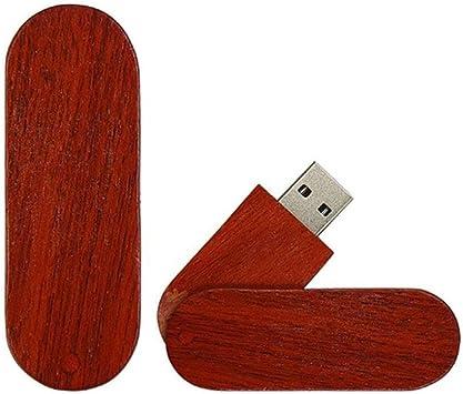 Memoria USB Flash Drive Pen Drive Memory Stick Unidad Pulgar Disco USB2.0 Creativo Moda Natural Bambú De Madera Rotación Sólida Girar Cuchillo Diseño Caja De Madera Memoria USB (4GB,Caoba): Amazon.es: Electrónica