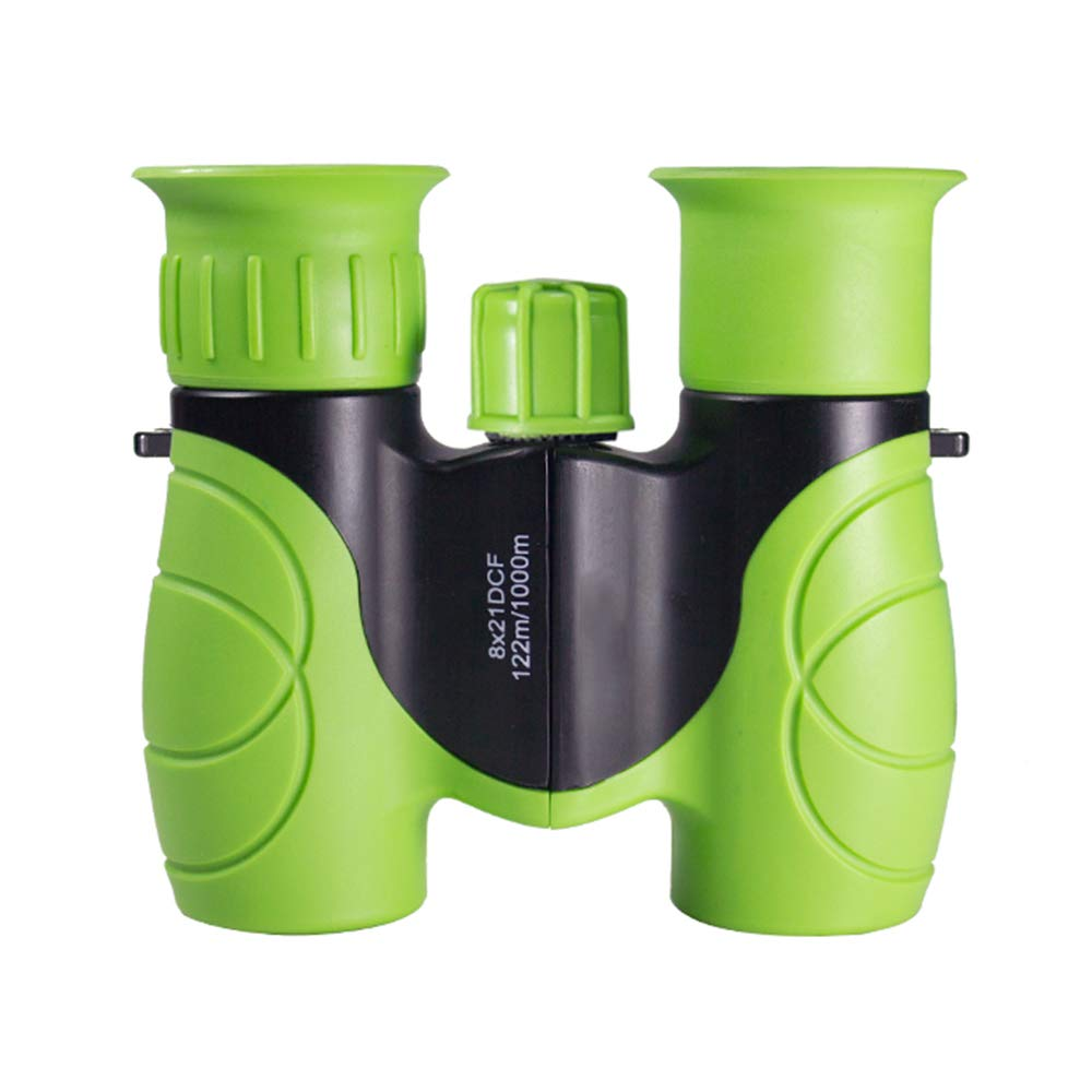 ZYL Children's Binoculars, 8×21 High Power Telescope, Ring Protection Eye Pupils Special Creative Gift Gift Toy Telescope More Suitable for Tourism Viewing Concert,Green by ZYL